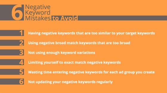 negative keywords google ads