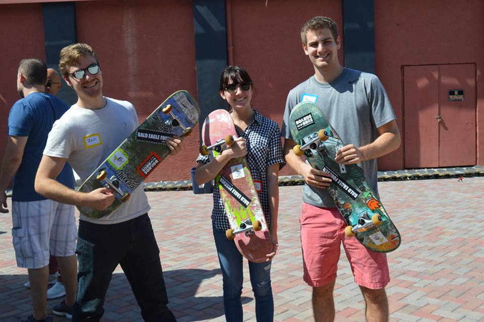 Sparkinator building skateboards