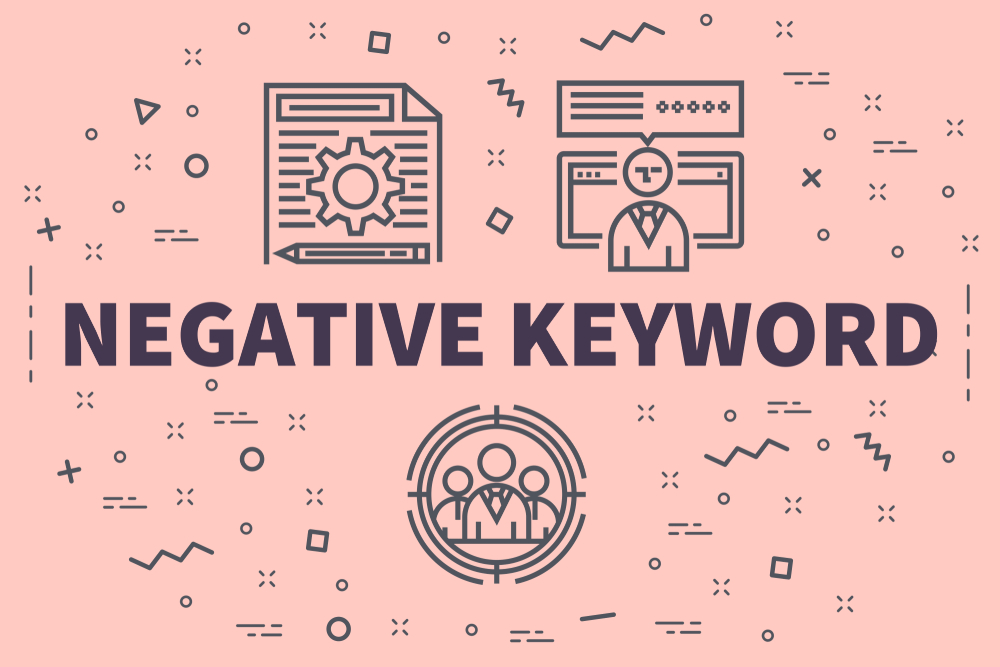 negative keyword graphic