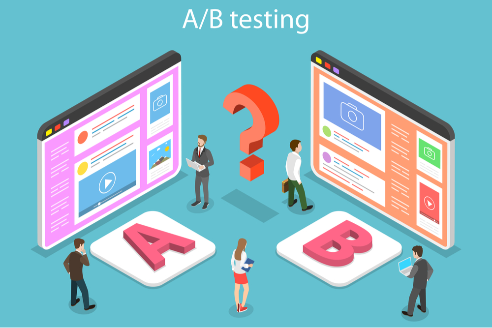 A/B testing a new landing page