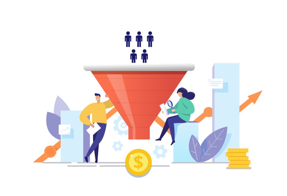 google ads conversion rate funnel graphic